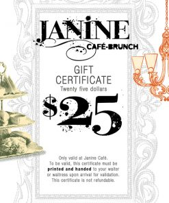 Gift certificate Janine $25